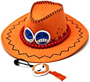 Cosplay Dress Up toys One Piece Portagas D Ace hat cowboy hat