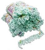 Alize Puffy Color 5x 100g laine de tricot, 500grammes de doigts–Coton Multicolore Super Bulky, rideau coton à tricoter Tricoter sans aiguille Mint Flieder Rosa Orange 5860