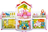 Toyshine DIY Doll House Creative Edition with Accessories Included (Multicolour, 127 Pieces)