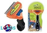 FURminator M pettine spazzola cani di 9-23 kg pelo corto inferiore ai 5 cm