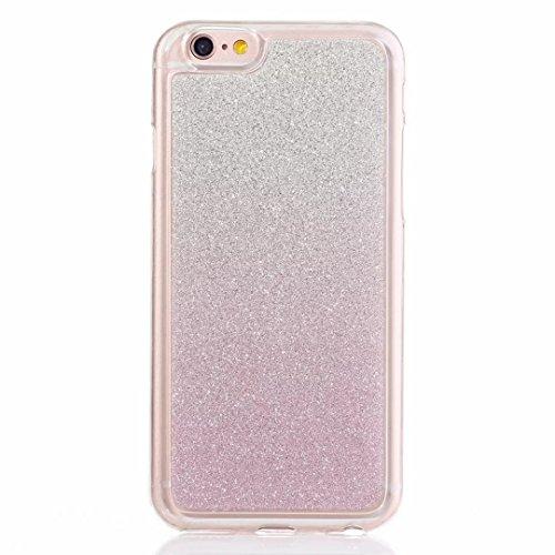 MUTOUREN Gradient Farbe Bling Glitzern TPU Case-für Apple iPhone 6 / 6S 4.7 inches Schutzhülle/Hülle/Handyhülle-Silikon-Kasten-Abdeckungsschutz - Ultra dünn Durchsichtig Kristall Anti-scratch Drucken Handycover-Lila