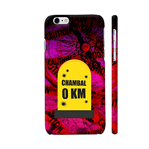 Colorpur iPhone 6 Plus / 6s Plus Cover - Chambal 0 KM Milestone On Purple Printed Back Case