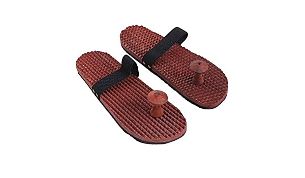 ac76481688f1 indiabigshop Wooden Acupressure Chappal with Elastic Strip  Amazon.in  Home    Kitchen
