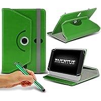 Aventus Samsung Galaxy Tab E NOOK 9.6 Pollici Verde Custodia per Tablet di Alta Qualita in Ecopelle 360 Gradi di Rotazione Girevole con Stylus Penna