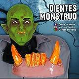 Vampirzähne zum Aufstecken Falsche Ork Zähne Monster gelb Scherzgebiss Spaßzähne verfärbte Dracula-Zähne Accessoire Alien Scherzzähne Spaßgebiss