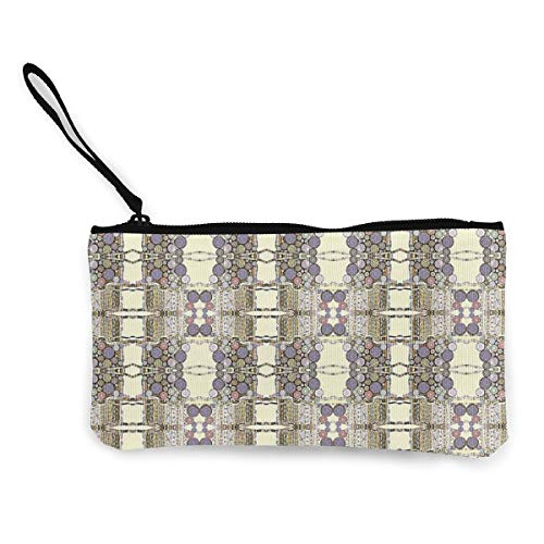and Baskets Multifunctional Portable Canvas Coin Purse Phone Pouch Cosmetic Bag,Zippered Wristlets Bag