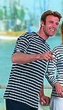Bretonisches Fischerhemd Kurzarm Beachwear blau