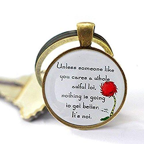 Lorax Truffula Baum 'sofern nicht' Zitat Schlüsselanhänger, Silber oder Bronze, silber oder bronze , Einzigartige Schlüsselanhänger Key Ring Geschenk , Everyday Schlüsselanhänger Key kette