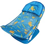 Baby Bucket Car ter Delux Baby Folding Bather/Bath Net With Detachable Pillow (Blue-1)