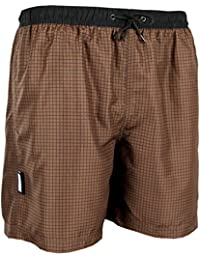 GUGGEN MOUNTAIN Maillot de bain pour homme de materiau high-tech slip shorts checked *Bleu Pourpe*