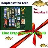 Unbekannt Angelset Karpfen 24 Einzelteile Anglergeschenk Karpfenzubehör Angelzubehör