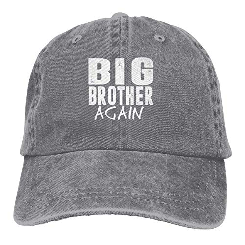 Presock Big Brother Again Cowboy Cap Unisex Adjustable Trucker Baseball Hats Gray