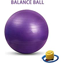 Pelota de 55/65/75cm pelota de Yoga pelota bola de equilibrio Gimnasio Ejercicio con Bomba de pie para fitness, fitness de hombro Relajación alivio de estrés, stiff (3tamaño)