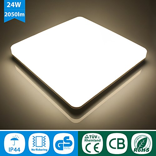 Oeegoo 24w Ip44 Led Plafoniera Lampada Da Soffitto Led Quadrata