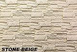 1 m² EPS Dekorsteine Wanddekoration Styropor Platten Verkleidung, STONE BEIGE