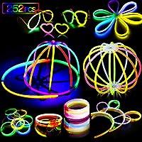 AMZJUPWM Barras Luminosas, 490pzas (20 cm) múltiples Colores: Amarillo, Rojo, Blanco, Ideal para Eventos: Fiestas Infantiles, Bodas, cumpleaños. (252PCS)