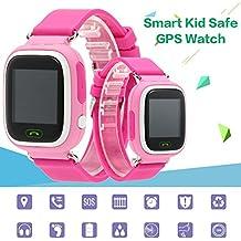KKmoon Smartwatch Localizador GPS Reloj de Pulsera para Niños Bebés Seguridad Llamada SOS Anti Perdida Tracker