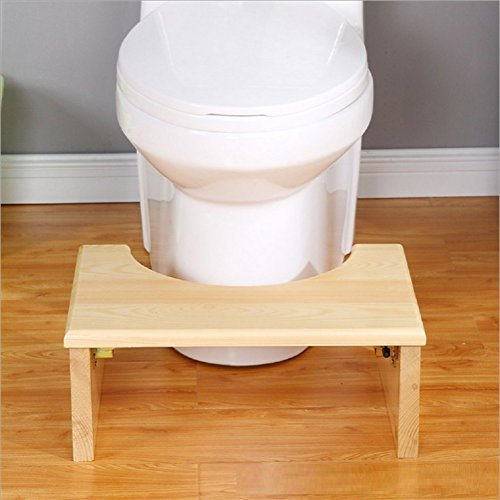 GPF Faltbare Toilette Pad Fußhocker - Holz,Beige -