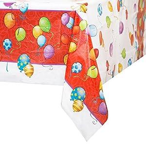 Unique Party Ênico Industrias Mantel 23.603 Globos de cumpleaños de plástico - 144 Packs