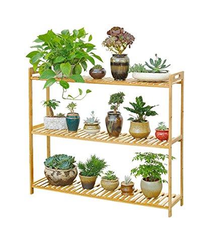 LIANGLIANG Etagère De Fleur Plancher en Bambou Pot À Fleurs Plante Plante Succulentes Pot À Fleurs Salon Balcon (Taille : 100 * 25 * 90cm)