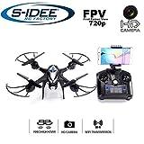 s-idee® 01606 S30CW Quadrocopter WiFi verstellbare HD Kamera über den Sender FPV Höhenstabilisierung Headless VR Drohne Flip Funktion 2.4 GHz mit Drone mit Camera 720p