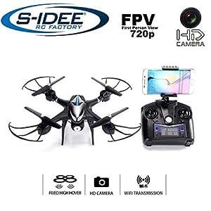 Idea S 01606s30cw Quadrocopter stabilizzazione WiFi HD fotocamera tramite trasmettitore FPV regolabile in altezza, Headless Mode VR possibile, drone funzione rotazione a 360°, 2.4GHz con Gyro, 4canali, 6assi di sistema drone con camera 720P