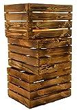 3 pcs cesta/effetto legno casse ca 49 x 42 x 31 cm frutta/mela CASSE VINO casse in vecchio Paese