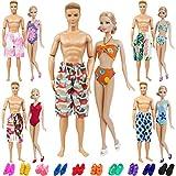 ZITA ELEMENT 15 PCS Puppen Kleidung Badeanzüge Badehosen Badekleidung für 11,5 Zoll Puppe und 12...
