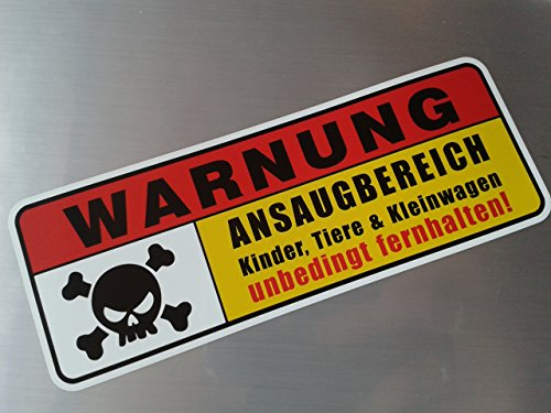 Warnung Ansaugbereich Shocker Hand Auto Aufkleber JDM Tuning OEM DUB Decal Stickerbomb Bombing fun w