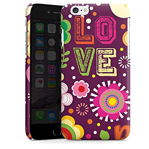 Apple iPhone 4 Housse Étui Silicone Coque Protection Aime les 60s Hippie couleurs Cas Premium brillant