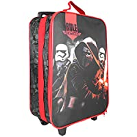 Star Wars Trolley for Kids - Suitcase with Kylo Ren Print - Wheeled Carry on Luggage for Children - Black and Red - 41x29x12 cm - Perletti