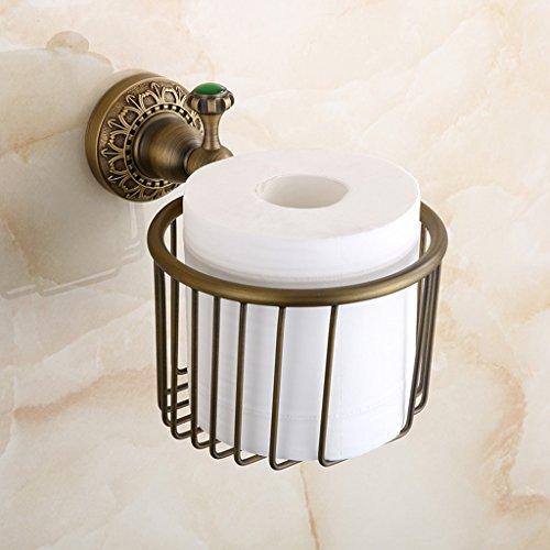 A Salle de bain de style européen plein - cuivre antique papier serviette cadre cuivre panier salle de bains épaissé ameublement toilette papier toilette support