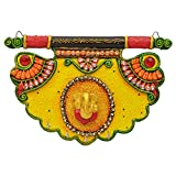 Wooden & Paper Mache Pankhi Shape Ganesh...