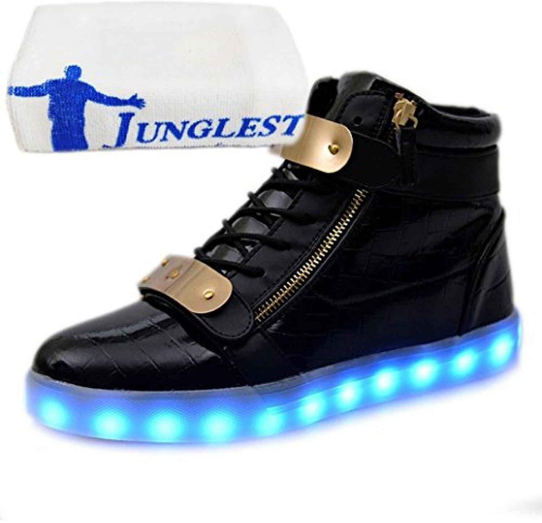 junglest (Presente:Pequeña Toalla) 7 Colores USB Carga LED Luz Glow Luminosos Light Up Flashing Sneakers Zapatos... -