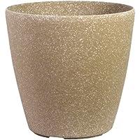 Pietra Luce Serie SL 51 centimetri Fusioni pietra rotonda Planter - Beige Sandstone (confezione da 3)