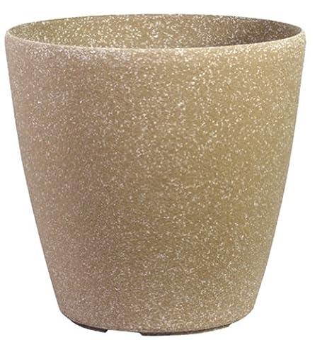 Stone Light SL Series 51cm Cast Stone Round Planter - Beige Sandstone (Pack of 3)