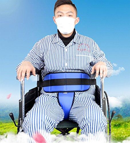 Kissen Becken Schieber Gurt, Oberkörper Unterstützen Rollstuhl-Positionierungs-Gurt Und Rutschfesten Thong-Gurt, Verhindern Patienten Vorwärts Rutschen, Blau -