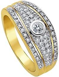 Diamond Line Damen - Ring 585er Gold 55 Diamanten ca. 0,40 ct.