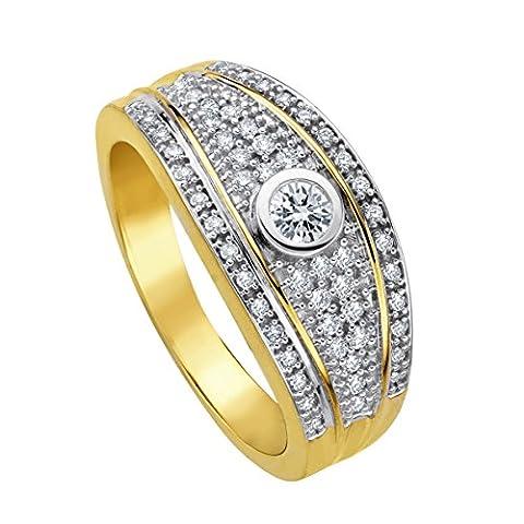 Diamond Line Damen - Ring 585er Gold 55 Diamanten ca. 0,40 ct., gelbgold (9 Ct Goldringe)