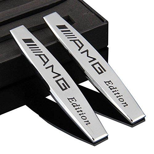 2stk-metal-voiture-inscription-autocollants-pour-mercedes-benz-amg-garde-boue-argente-embleme-chrome