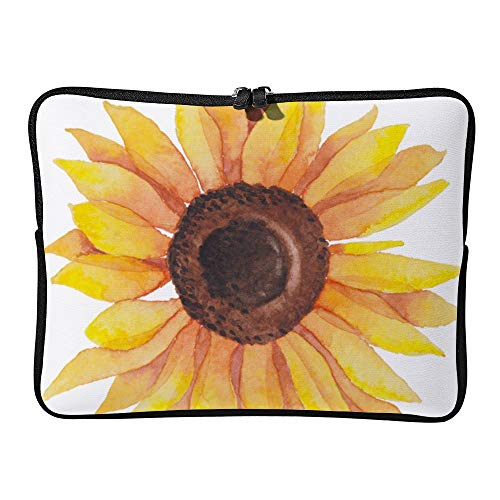 DKISEE Watercolor Sunflower Laptop Sleeve Case Bag Cover Compatible 10 inches Notebook MacBook Air MacBook Pro - Cover Hp-laptop-disney