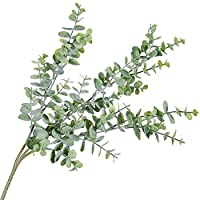 Danigrefinb 1Pc Artificial Eucalyptus Leaf 3 Branches Plant for DIY Wedding Party Home Decor decorative flowers artificial in vase Greyish Green