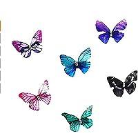 Forcine per capelli a forma di farfalla, in chiffon, accessori per capelli, per acconciature anche da sposa