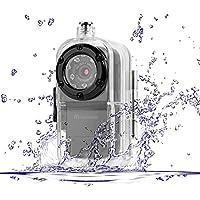 TEKMAGIC 1920x1080P HD Mini Azione DV Sportive Microcamere Subacquea Videocamere Infrarossa di Visione (Cinghia Web Vita)