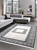 Carpetia Waschbarer Teppich Print Teppich Küchenteppich schwarz Versace Muster Größe 160x230 cm