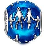 NinaQueen Familia Abalorio de mujer de plata de ley Charms beads fit Pandora pulseras