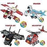 WEofferwhatYOUwant Helicopter, Flugzeug & Co. 3D Puzzle Bausatz für Kinder ab 6 Jahre - FLATBLOCKS Level 3 - 732 Teile (DIY)
