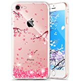iPhone 7 Hülle Silikon,iPhone 7 Hülle Glitzer,iPhone 7 Crystal TPU Bumper Case Soft Transparent Silikon Gel Schutzhülle Cover,iPhone 7 Hülle (4.7 Zoll) Cristall,EMAXELERS iPhone 7 Bling Cristall Diamant TPU Schutzhülle Handy Tasche Etui für iPhone 7,Shinning Glitzer Kristall Diamant Cherry Blossoms Silicone Rückseite Hülle Etui Cover für iPhone 7 4.7 Zoll,Cherry Blossoms