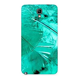 Impressive Feather Cyan Back Case Cover for Galaxy Note 3 Neo