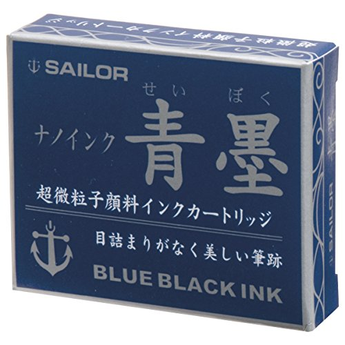 sailor-fountain-pen-sei-boku-ink-cartridge-blue-black-pack-of-12